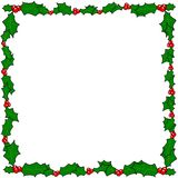 Christmas holly border frame. With copy space Royalty Free Stock Photos