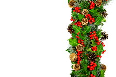 Christmas holly border horizontal Stock Image