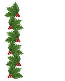 Christmas Holly border illustration. Illustration composition Christmas design with holly leaves for background, border or frame with copy space Stock Images