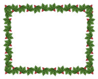 Christmas Holly border illustration Royalty Free Stock Images