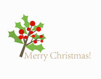 Christmas holly card Royalty Free Stock Images