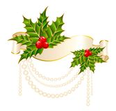 Christmas holly decorate Royalty Free Stock Photos