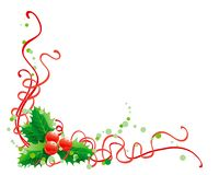 Christmas holly decoration. Vector abstract christmas illustration of holly on white background Royalty Free Stock Image