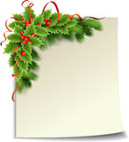 Christmas holly  decoration with paper. Vector illustration Christmas holly  decoration with paper Royalty Free Stock Image