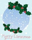 Christmas holly design Royalty Free Stock Photo