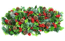 Christmas Holly and Foliage Royalty Free Stock Images