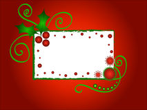 Christmas Holly Frame Stock Photography