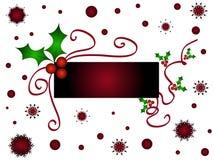 Christmas holly frame. With stars and falkes Stock Photos