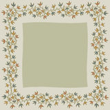 Christmas holly frame. On gray background Stock Photography