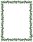 Christmas Holly Frame with Clip Path Stock Photo