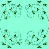 Christmas holly frame. On turquoise background Stock Image