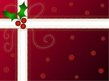 Christmas holly gift pack Stock Images