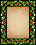 Christmas Holly greeting card. Vector Christmas Holly greeting card Stock Photography