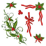 Christmas, holly, loops Stock Image