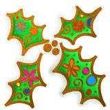 Christmas Holly Paint Doodle Royalty Free Stock Photography
