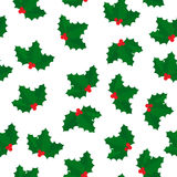 Christmas holly pattern Stock Image