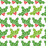 Christmas holly pattern Stock Photo