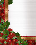 Christmas Holly Poinsettia border Royalty Free Stock Images