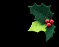 Christmas holly with with red berries Stock Images