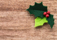 Christmas holly with with red berries royalty free stock images