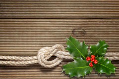 Christmas holly with with red berries Royalty Free Stock Photos
