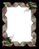 Christmas Holly and Ribbons border Royalty Free Stock Image