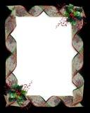 Christmas Holly and Ribbons border Royalty Free Stock Image
