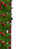 Christmas Holly and ribbons border Royalty Free Stock Photography