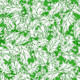 Christmas holly seamless pattern. Royalty Free Stock Photography
