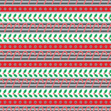 Christmas holly seamless pattern small Stock Images