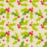 Christmas holly seamless pattern Royalty Free Stock Photo