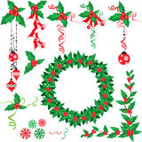 Christmas holly set Stock Images