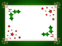 Christmas holly and stars stock images