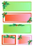 Christmas Holly Tag Stock Photo