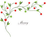 Christmas Holly With Red Berries Royalty Free Stock Photography