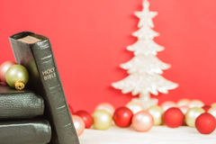Christmas and the Holy Bible Royalty Free Stock Photo