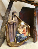 Christmas of the Holy Family with the statues Stock Photos
