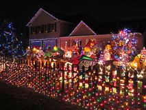 Christmas Home in Alexandria Stock Photos