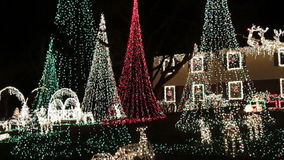 Christmas Home in Columbia Maryland stock video footage