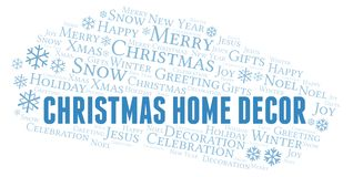 Christmas Home Decor word cloud. Wordcloud made with text only vector illustration
