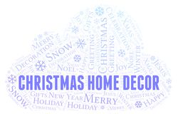 Christmas Home Decor word cloud. Wordcloud made with text only royalty free illustration