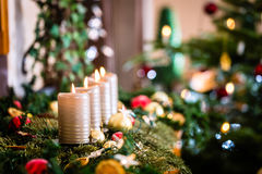 Christmas home decoration for Advent Stock Photography