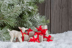 Christmas home decoration Stock Photos