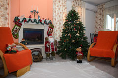 Christmas home decoration. Waiting for Santa Claus royalty free stock images