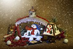 Christmas home decorations royalty free stock image