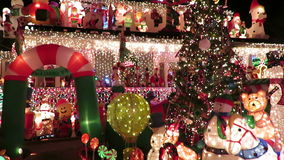 Christmas Home Decorations in Virginia stock video footage