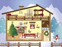 Christmas home stock photo