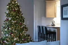 Christmas Home Interior Royalty Free Stock Photos