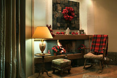 Christmas home interior Royalty Free Stock Images