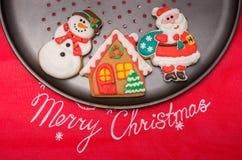 Christmas homemade cookiesh Stock Photos